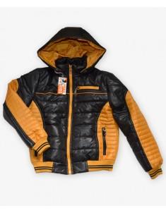 Куртка черная с желтым на мальчика. Размеры 32-42