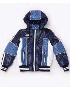 """Куртка демисезонная """"Егор"""" синяя с  белым на мальчика. Размер 30-42"""