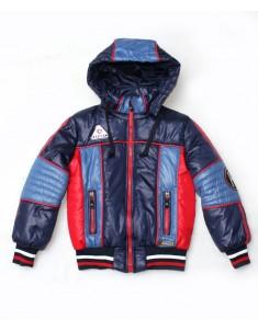 """Куртка демисезонная """"Егор"""" синяя с красным на мальчика. Размер 30-42"""