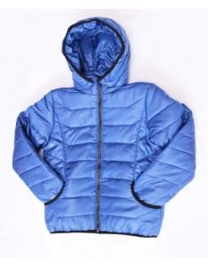 Куртка демисезонная утепленная синяя на мальчика. Размер: 32-38