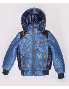 Куртка-жилетка на подростка синего цвета. Размеры: 34-40