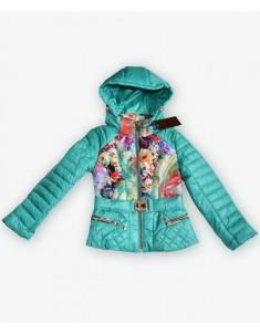 Куртка демисезонная на девочку цвет аквамарин. Размеры 30-40