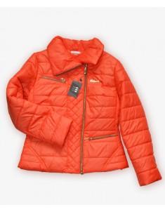 Куртка подростковая на девочку коралл. Размеры 44-48