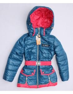 """Куртка демисезонная """"Змейка"""" лазурь на девочку. Размер: 30-40"""