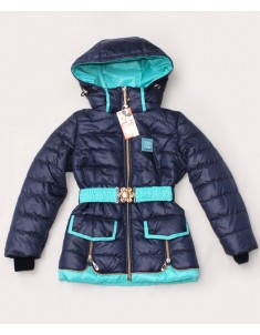 """Куртка демисезонная """"Змейка"""" тёмно-синяя на девочку. Размер: 30-40"""
