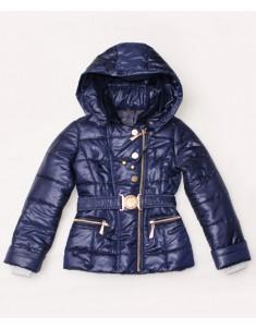 """Куртка демисезонная """"Косуха"""" тёмно-синяя на девочку. Размер: 34-44"""