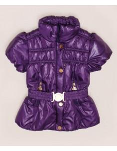 Куртка-жилет демисезонная фиолетовая на девочку. Размер: 32-38