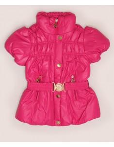 Куртка-жилет демисезонная малиновая на девочку. Размер: 32-38