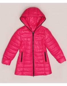 """Куртка-пальто демисезонная """"Анна"""" розовая на девочку. Размер: 34-40"""