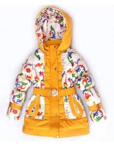 """Куртка демисезонная утепленная """"Вероника"""" желтая на девочку. Размер: 26-36"""