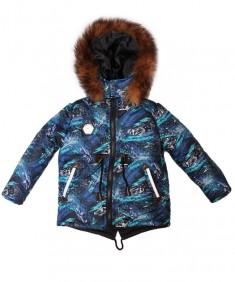 Куртка зимняя на мальчика опушка натуральный мех р. 3-6 лет