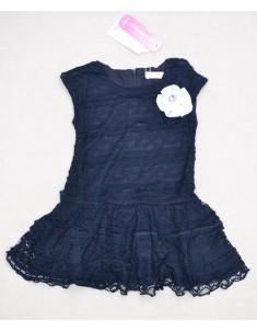 Платье кружево синее. Рост: 98; 106; 114; 122; 130.