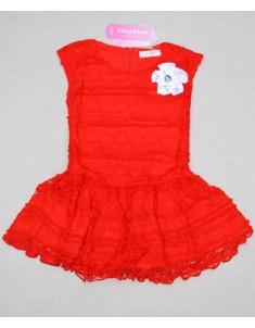 Платье кружево красное. Рост: 98; 106; 114; 122; 130.