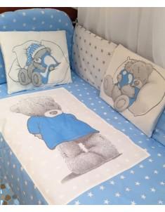 Комплект постельного детского белья мишка Тедди