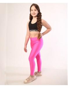 Лосины спорт детские и подростковые бифлекс розовые. Р. 98-146