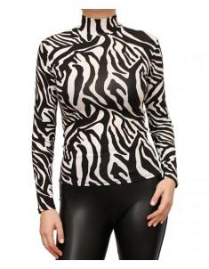 Водолазка вискоза зебра. Размер: 40-58