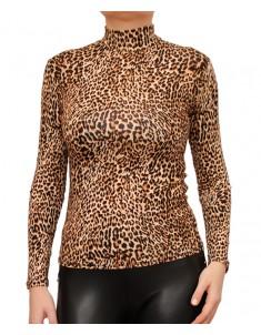 Водолазка вискоза леопард классика. Размер: 40-58