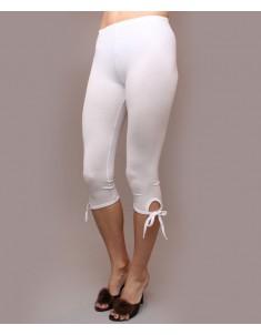 """Бриджи женские модель """"Завязки"""" белые. Размеры 44-62"""