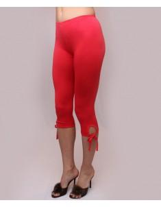 """Бриджи женские модель """"Завязки"""" красные. Размеры 44-62"""