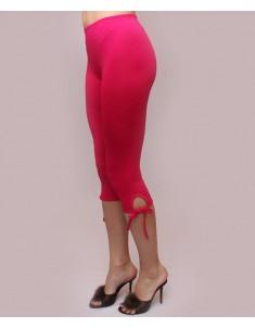 """Бриджи женские модель """"Завязки"""" малиновые. Размеры 44-62"""
