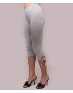 """Бриджи женские модель """"Завязки"""" светло-серые. Размеры 44-62"""