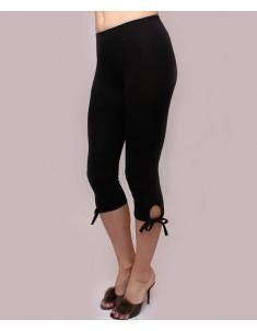 """Бриджи женские модель """"Завязки"""" черные. Размеры 44-62"""