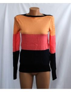 Пуловер №11 трёхцветный с чёрным