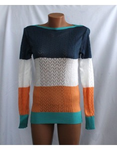 Пуловер №11 трёхцветный