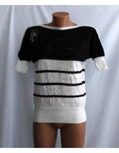 Кофта №7 чёрная с белым в полоску