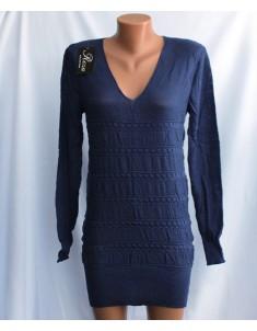 Пуловер №21 индиго