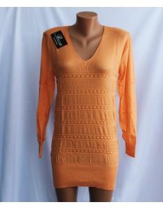 Пуловер №21 морковный