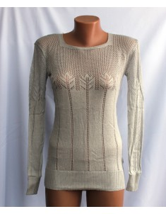 Пуловер №20 светло-серый