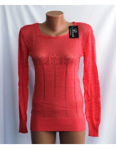 Пуловер №20 ярко-красный