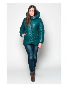 Куртка модель №20 (колокольчик) зеленая Размер 42-48
