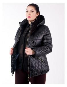 Куртка модель №27 черная. Размер 46-54