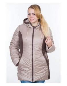 Куртка модель №26 бежевая с шоколадом. Размер 48-64
