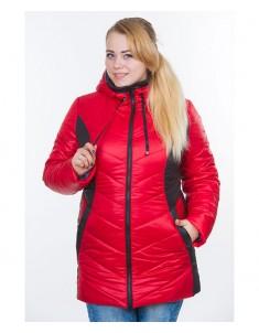 Куртка модель №26 красная с черным. Размер 48-64
