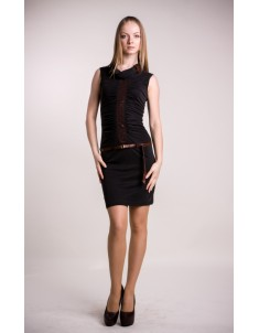 """Платье """"VS"""" маломерка черное. Размеры 42-48"""