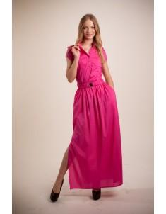 Платье модель №4/1 длинное малиновое. Размеры 42-46