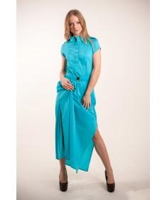 Платье модель №4/1 длинное голубое. Размеры 42-46