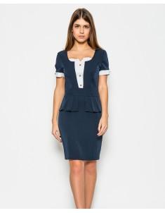 Платье модель №20 баска. Размеры 44-50