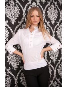 Рубашка №2 стойка белая. Размеры 42-48