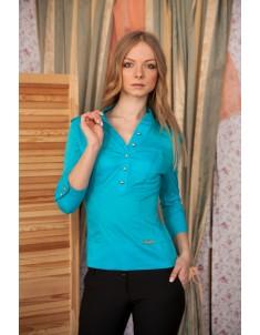 Рубашка №2 стойка голубая. Размеры 42-48