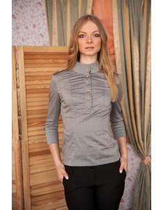 Рубашка №2 стойка серая. Размеры 42-48