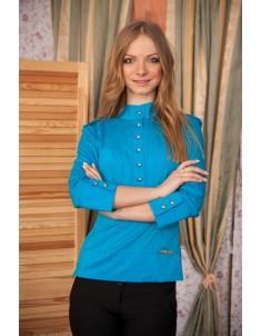 Рубашка №2 стойка синяя. Размеры 42-48