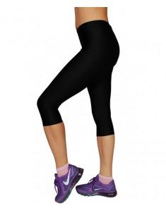 Лосины спорт укороченные (бриджи) черные бифлекс. Размеры 42-58