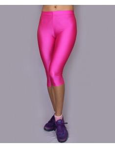Лосины спорт укороченные розовые батал. Размеры 42-58