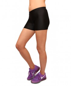 Шорты спортивные черные бифлекс. Размеры 42-48
