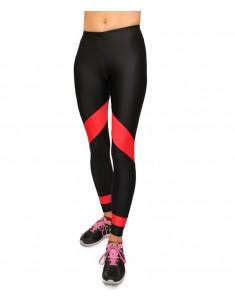 Лосины спорт красная полоса из бифлекса. Размеры 42-52
