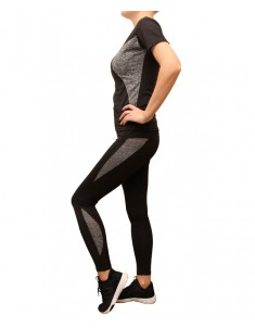 Комплект для фитнеса женский эластик серые вставки р. 42-48